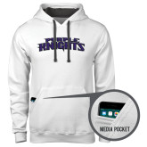 Contemporary Sofspun White Hoodie-Purple Knights