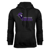 Black Fleece Hoodie-Purple Knights Stacked w/ Knight Head