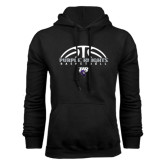 Black Fleece Hoodie-Basketball Half Ball Design