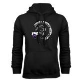 Black Fleece Hoodie-Gymnastics Circle Design
