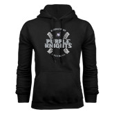 Black Fleece Hoodie-Baseball Ball Design