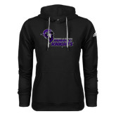 Adidas Climawarm Black Team Issue Hoodie-Purple Knights Stacked w/ Knight Head