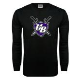 Black Long Sleeve TShirt-UB Shield w/ Swords
