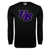 Black Long Sleeve TShirt-Interlocking UB