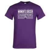Purple T Shirt-2018 ECC Womens Soccer Champions