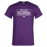 Purple T Shirt-2018 NCAA DII National Champions