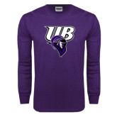 Purple Long Sleeve T Shirt-Primary Mark