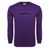 Purple Long Sleeve T Shirt-Purple Knights