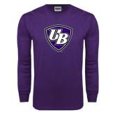 Purple Long Sleeve T Shirt-UB Shield
