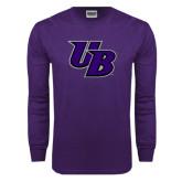 Purple Long Sleeve T Shirt-Interlocking UB