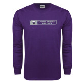 Purple Long Sleeve T Shirt-Purple Knights Athletics