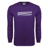Purple Long Sleeve T Shirt-UB Knights