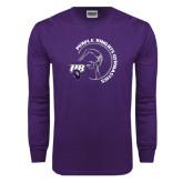 Purple Long Sleeve T Shirt-Gymnastics Circle Design