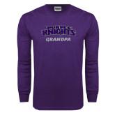 Purple Long Sleeve T Shirt-Grandpa