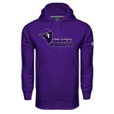 Under Armour Purple Performance Sweats Team Hoodie-Purple Knights Stacked w/ Knight Head