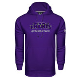 Under Armour Purple Performance Sweats Team Hoodie-Gymnastics