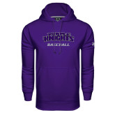 Under Armour Purple Performance Sweats Team Hoodie-Baseball