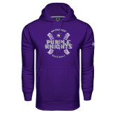 Under Armour Purple Performance Sweats Team Hoodie-Baseball Ball Design