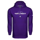 Under Armour Purple Performance Sweats Team Hoodie-Volleyball Ball Design