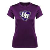 Ladies Syntrel Performance Purple Tee-UB Shield