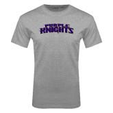 Grey T Shirt-Purple Knights