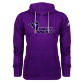 Adidas Climawarm Purple Team Issue Hoodie-Purple Knights Stacked w/ Knight Head