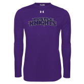 Under Armour Purple Long Sleeve Tech Tee-Purple Knights