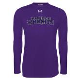 Under Armour Purple Long Sleeve Tech Tee-Purple Knights