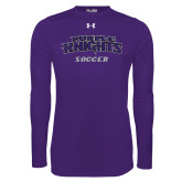 Under Armour Purple Long Sleeve Tech Tee-Soccer