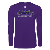 Under Armour Purple Long Sleeve Tech Tee-Gymnastics
