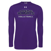 Under Armour Purple Long Sleeve Tech Tee-Volleyball