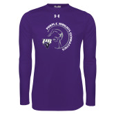 Under Armour Purple Long Sleeve Tech Tee-Gymnastics Circle Design