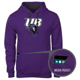 Contemporary Sofspun Purple Hoodie-Primary Mark