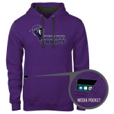 Contemporary Sofspun Purple Hoodie-Purple Knights Stacked w/ Knight Head