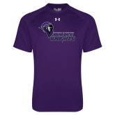 Under Armour Purple Tech Tee-Purple Knights Stacked w/ Knight Head