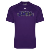 Under Armour Purple Tech Tee-Purple Knights