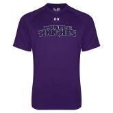 Under Armour Purple Tech Tee-Purple Knights
