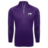 Under Armour Purple Tech 1/4 Zip Performance Shirt-Primary Mark