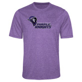 Performance Purple Heather Contender Tee-Purple Knights Stacked w/ Knight Head