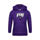 Youth Purple Fleece Hoodie-Primary Mark