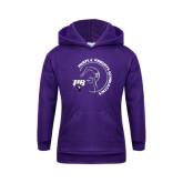 Youth Purple Fleece Hoodie-Gymnastics Circle Design