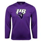 Performance Purple Longsleeve Shirt-Primary Mark