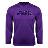 Performance Purple Longsleeve Shirt-Purple Knights