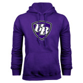 Purple Fleece Hoodie-UB Shield