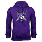 Purple Fleece Hoodie-UB Shield w/ Swords