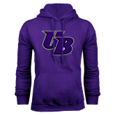 Purple Fleece Hoodie-Interlocking UB