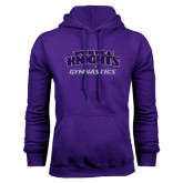 Purple Fleece Hoodie-Gymnastics