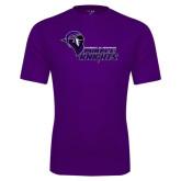 Performance Purple Tee-Purple Knights Stacked w/ Knight Head