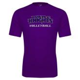 Performance Purple Tee-Volleyball