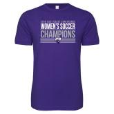 Next Level SoftStyle Purple T Shirt-2018 ECC Womens Soccer Champions